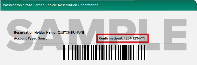 Where to find the confirmation number